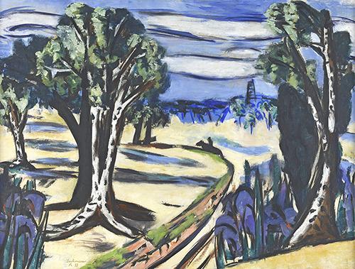Max Beckmann, Laren (Landschap met ruiter), 1943, olieverf op doek, 66 x 86 cm, Singer Laren, permanent bruikleen, beloofd legaat aan de Collectie Nederland