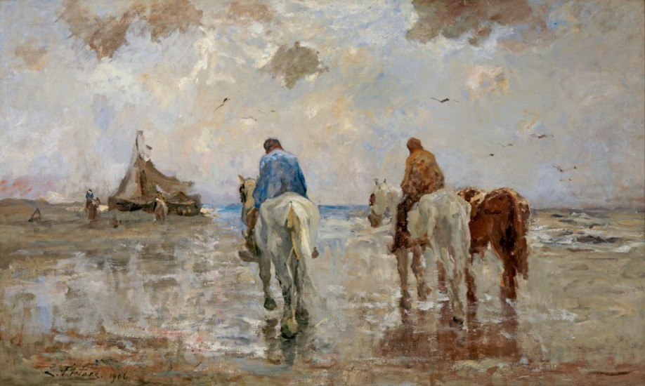 Evert Pieters, Langs het strand, 1906